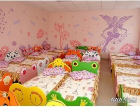 Спальная комната в детском саду