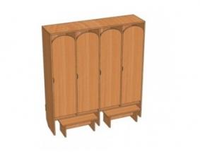 Шкафы для одежды с фигурным вырезом