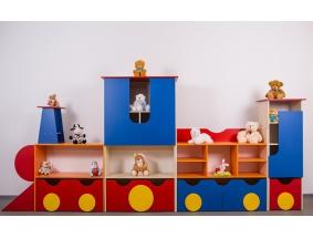 Стенки и полки для игрушек и пособий