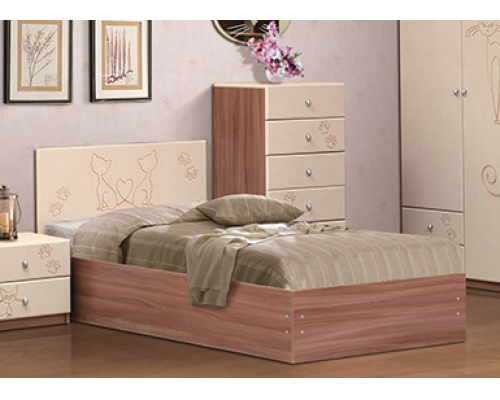 Кровать 900*2000 с орт. основанием «МЯУ» (900/970х800/300х2042)