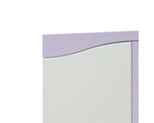 Фасад комбинированный МДФ из двух цветов пленок ПВХ с рисунком