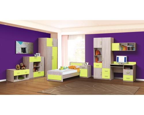 """Шкаф для одежды 4 двери. Модуль №1 .Из набора детской мебели """"Горка 9Д"""""""