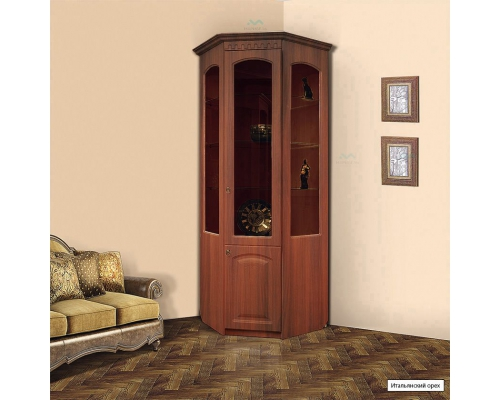 Шкаф МЦН витрина угловая Гармония-4(700*2100*700)