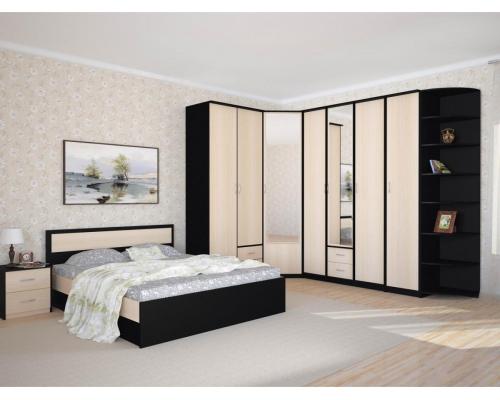 Шкаф 4-х створчатый с 2 ящиками «Карина» с зеркалом (1600*615*2300) (ЭКО)