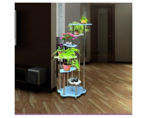 Цветочница-2 МДФ (стол декоратив.) металлик(720х1272х720) (Аджио)