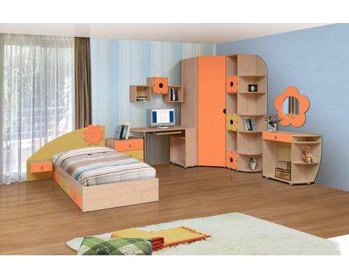 Шкаф для платья и белья угловой Набор мебели «СОЛНЫШКО» фасад МДФ