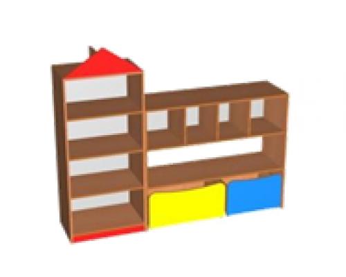 """Стенка для игрушек """"Домик"""" (1200/400/1000 стеллаж)"""