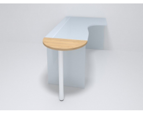 Приставка для стола полукруглая 50ПЭ/1-26 690*400*Н750 мм.