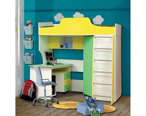 Детский письменный стол со скамейкой Комби-2 МДФ АДЖ