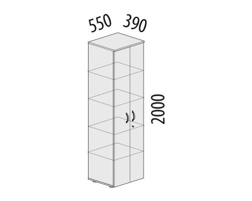 Шкаф 5 секций узкий с замком Альфа 63.50