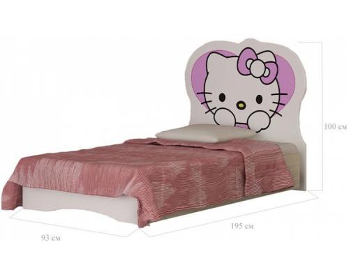 Кровать Китти(930*1000*1950) МГ ВРСЛ