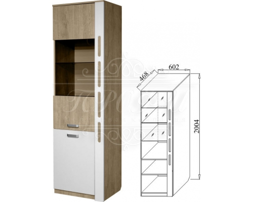 Шкаф МЦН (со стеклом) Белла-4 (602*2004*468)