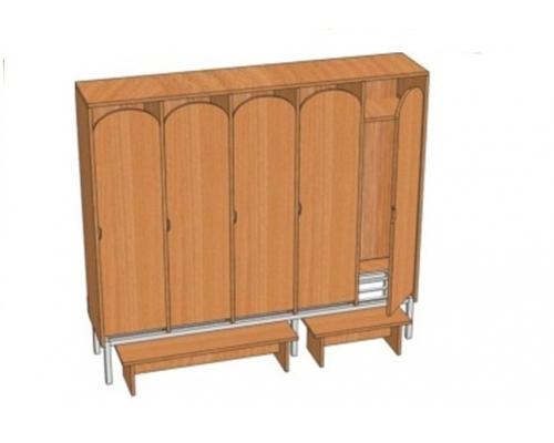 Шкаф 5-местный металлокаркасный Ш.ДТ.5.1 (м) (1596*330*1400)