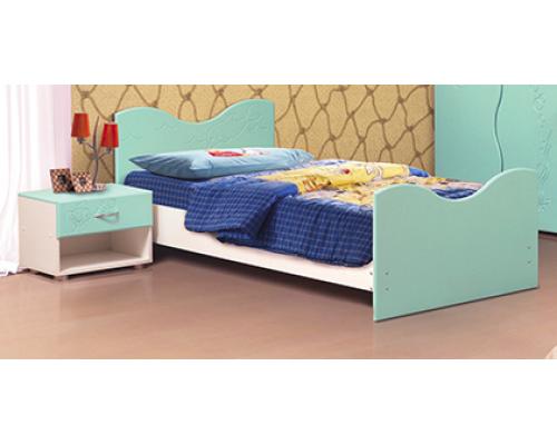 Тумба прикроватная Набор мебели «МОРЕ» фасад МДФ