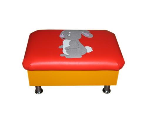 «Банкетка с аппликацией на хромированных ножках» ВИК