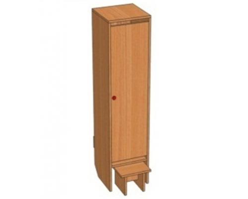 Шкаф 1-местный Ш.ДТ.1 (332*330*1400)