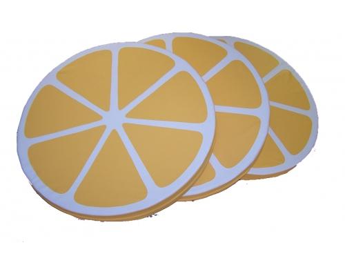 Мат круглый «Лимонная долька» «Арбузная долька» «Часы» «Лимонная долька» (размеры на выбор)