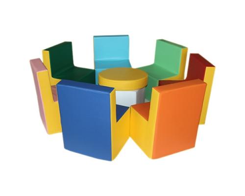 Набор кресел + столик комплект мягконабивной мебели