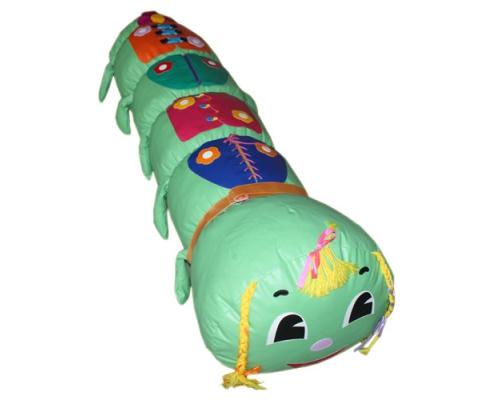 «Гусеница большая»  игрушка напольная дидактическая (гранулы, поролон)