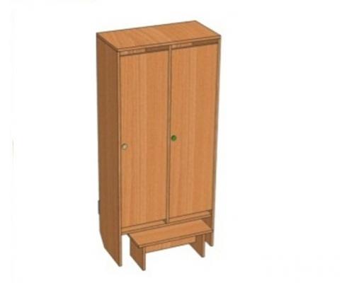 Шкаф 2-местный Ш.ДТ.2 ( 648*330*1400)