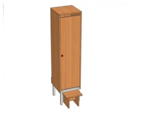 Шкаф 1-местный металлокаркасный Ш.ДТ.1(м) (332*330*1400)