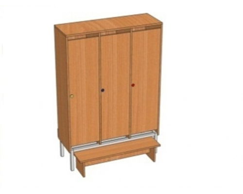 Шкаф 3-местный металлокаркасный Ш.ДТ.3(м) (964*330*1400)