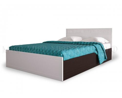 Афина кровать 1,6м ПВХ глянец