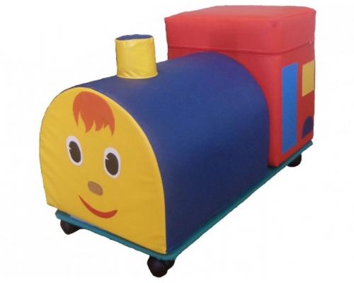 «Веселый паровозик» 2 элемента с креплениями на колесах