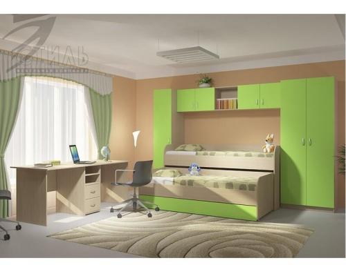 Кровать 2-х уровневая (нижняя) Мийа 2(1990х605х840)