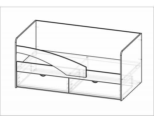 Кровать Дельфин (1632*750*850)МГ ФРС