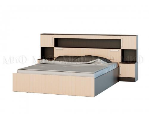 """""""Бася"""" кровать 1,6м  с надстройкой и с тумбами (1635*1016*2229)"""
