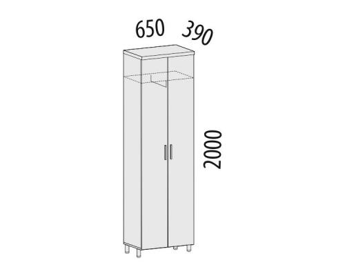 Шкаф офисный для одежды Лидер 82.11