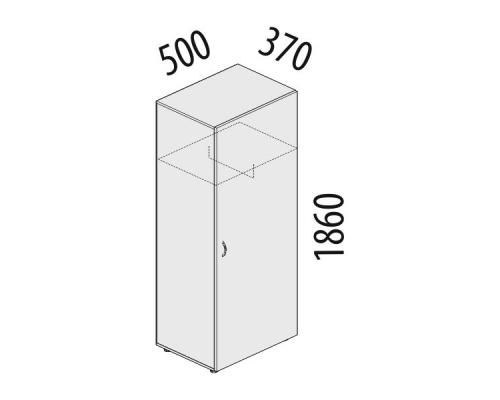 Гардероб однодверный Рубин 41.34
