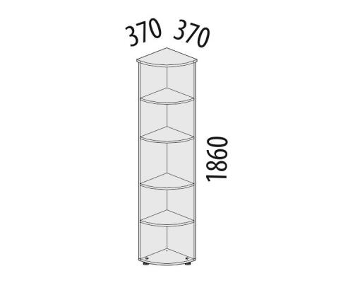 Стеллаж офисный угловой Рубин 41.35