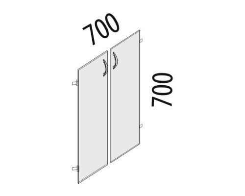 Двери ЛДСП 2 секции Рубин 41.37