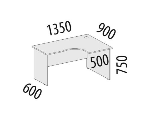 Стол эргономичный правый Рубин 41.47