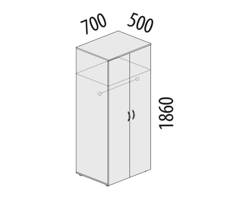 Гардероб двухдверный Рубин 42.33