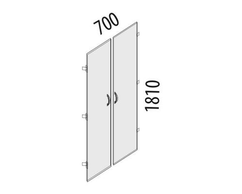 Двери ЛДСП 5 секций Рубин 42.36