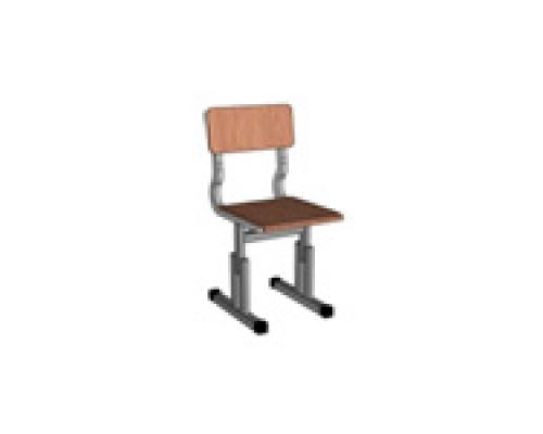Стул детский  регулируемый (ростовая группа на выбор) Лакированная фанера, Труба стальная мебельная квадратного сечения (20*20)