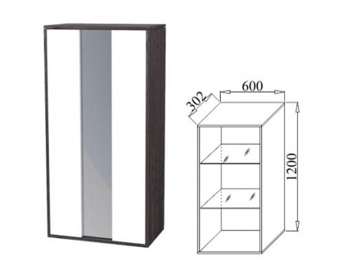 Шкаф навесной со стеклом Куб(600*302*1200)