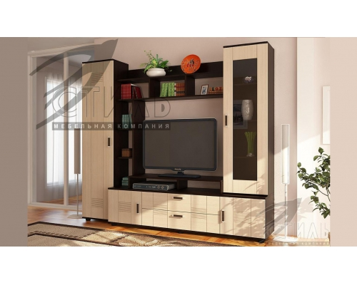 Гостиная Стиль № 7 (А) шкаф (1990*450*2250)МГ СТ