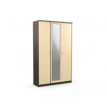 Шкаф 3-х створчатый «Дуэт Люкс» с зеркалом (1415*450*2300) (ЭКО)