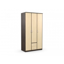 Шкаф 3-х створчатый с 2 ящиками «Карина» б/з  (1200*615*2300) (ЭКО)