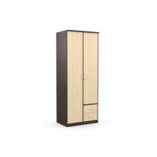 Шкаф 2-х створчатый с 2 ящиками «Карина» б/з  (900*615*2300) (ЭКО)