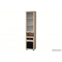 Шкаф комбинированный (со стеклом)(452*1990*380)