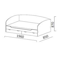 Юниор-2 ДМ-9 Кровать одинарная с ящиками