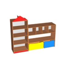 """Стенка для игрушек """"Домик"""" (600/400/1500 домик стеллаж)"""