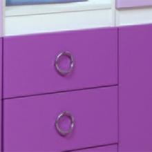 """Шкаф многоцелевой ( 3 ящика)  Модуль №1 (сирень/фиолет.) Из набора детской мебели """"Горка 3Д"""""""