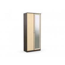 Шкаф 2-х створчатый «Дуэт Люкс» с зеркалом (960*450*2300) (ЭКО)