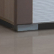 Опоры прямоугольные 20 мм, хром матовый